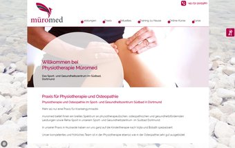 Physiotherapie Website mit Typo3