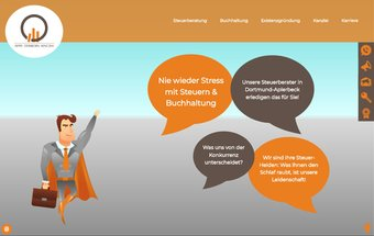 Steuerberater Website mit Typo3